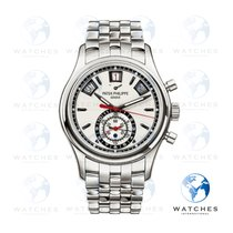 Patek Philippe Steel Automatic Silver No numerals 40.5mm pre-owned Annual Calendar Chronograph