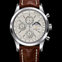 Breitling Transocean Chronograph 1461 Steel 43mm Silver United States of America, New York, New York