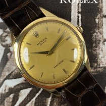 Rolex Oyster Precision Yellow gold 35.5mm Gold No numerals