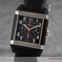 Jaeger-LeCoultre Reverso Squadra rabljen 35mm Crn Kronograf Datum, nadnevak Tekstil