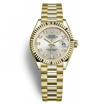 Rolex Lady-Datejust Yellow gold 28mm Silver No numerals United States of America, New York, New York