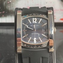 Bulgari Assioma pre-owned 35mm Grey Date Weekday Rubber