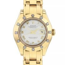 Rolex Lady-Datejust Pearlmaster Or jaune 29mm Nacre Romains France, Paris