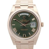 Rolex Day-Date 40 Or rose 40mm Vert