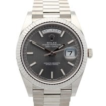 Rolex Day-Date 40 Oro blanco 40mm Gris