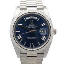 Rolex Day-Date 40 Oro blanco 40mm Azul