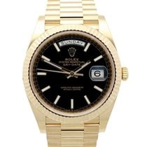 Rolex Day-Date 40 Oro amarillo 40mm Negro