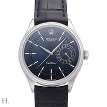 Rolex Cellini Date Oro blanco 39mm Azul