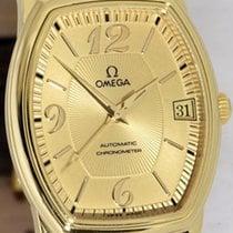 Omega De Ville Prestige Zuto zlato 31,2mm Boja šampanjca Arapski brojevi