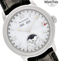 Blancpain Léman Moonphase Steel 38mm White Arabic numerals United States of America, Florida, North Miami Beach