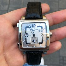 Ulysse Nardin Quadrato Dual Time Steel 42mm Silver Arabic numerals