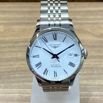 Longines Record pre-owned White Date Steel
