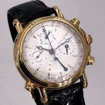 Paul Picot Atelier Oro amarillo 40mm Plata