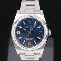 勞力士 Oyster Perpetual 36 鋼 36mm 藍色 阿拉伯數字