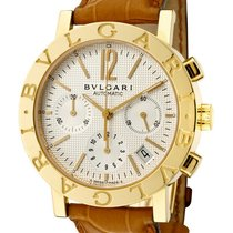 Bulgari Yellow gold Automatic White 38mm new Bulgari
