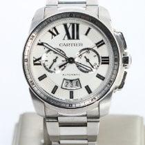 Cartier Calibre de Cartier Chronograph Steel 42mm Silver Roman numerals United States of America, Nevada, Las Vegas