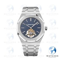 Audemars Piguet Royal Oak Tourbillon Steel 41mm Blue No numerals