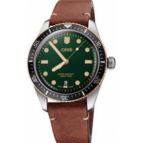Oris Divers Sixty Five Steel 40mm Green No numerals