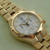 Vacheron Constantin Yellow gold Automatic Silver 41mm pre-owned Overseas Chronograph