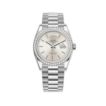 Rolex 128349 RBR Or blanc Day-Date 36 36mm nouveau