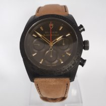 Tudor Fastrider Black Shield pre-owned 42mm Black Chronograph Date Weekday Leather