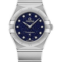 Omega Constellation Quartz Stal 25mm Niebieski Polska, Warszawa