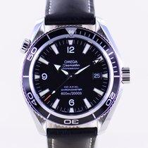 Omega Seamaster Planet Ocean Stahl 42mm Schwarz Arabisch Deutschland, Langenfeld