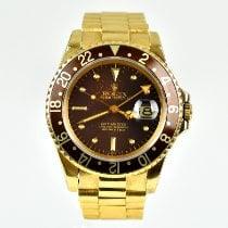Rolex GMT-Master Žluté zlato 40mm Hnědá Bez čísel