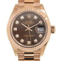 Rolex 279175GBR_P Oro rosa Lady-Datejust 28mm nuevo