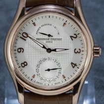 Frederique Constant Rose gold Automatic Silver Arabic numerals 42mm pre-owned Runabout