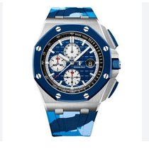 Audemars Piguet Royal Oak Offshore Chronograph Steel 44mm Blue No numerals United States of America, Iowa, Des Moines