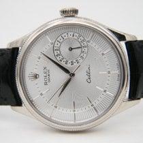 Rolex Cellini Date Fehérarany 39mm Ezüst Számjegyek nélkül