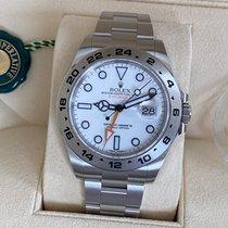 Rolex Explorer II Acero 42mm Blanco Sin cifras