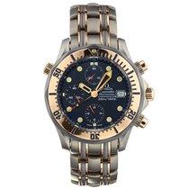 Omega Seamaster Diver 300 M Or rose 42mm Bleu Sans chiffres