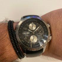 Hamilton Khaki X-Wind rabljen 44mm Crn Kronograf Datum, nadnevak Kaučuk