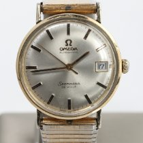 Omega Seamaster DeVille Yellow gold 36mm Silver No numerals
