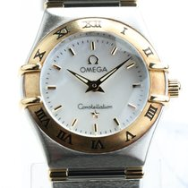 Omega Constellation pre-owned 25mm Mother of pearl Gold/Steel