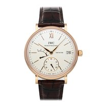 IWC Rose gold Manual winding Silver Roman numerals 45mm pre-owned Portofino Hand-Wound