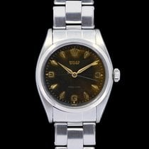 Rolex Oyster Precision Steel 34mm Black Arabic numerals