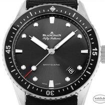 Blancpain Fifty Fathoms Bathyscaphe neu 2020 Automatik Uhr mit Original-Box und Original-Papieren 5000-1110-NABA