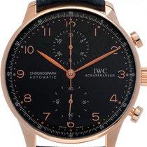 IWC Portuguese Chronograph Oro rosa 41mm Negro