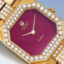 Rolex Cellini Yellow gold Bordeaux No numerals