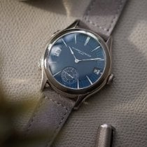 Laurent Ferrier Aur alb 41mm Atomat Laurent Ferrier Galet Traveller Micro-Rotor folosit