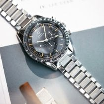 欧米茄 Speedmaster Professional Moonwatch 钢 40mm 黑色 无数字