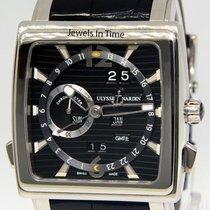 Ulysse Nardin Quadrato Dual Time Perpetual 320-90/69 Foarte bună Aur alb 42mm Atomat