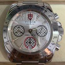 Tudor Sport Chronograph Steel 41mm Silver No numerals