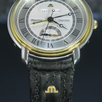Maurice Lacroix Masterpiece Gold/Steel 38mm Silver Roman numerals