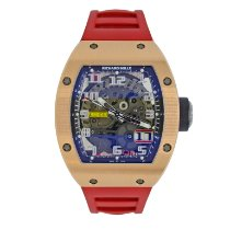 Richard Mille RM 029 pre-owned 39.7mm Transparent Rubber