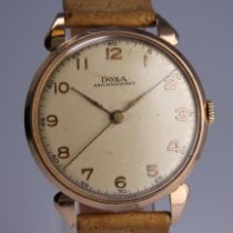 Doxa Rose gold Manual winding Champagne Arabic numerals 35mm pre-owned