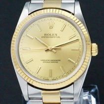 Rolex Oyster Perpetual 34 Or/Acier 34mm Or Sans chiffres